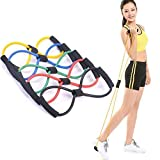 Goldiluxe Resistance 8 Type Muscle Chest Expander Exerciser Rope for Workout Pulling Fitness