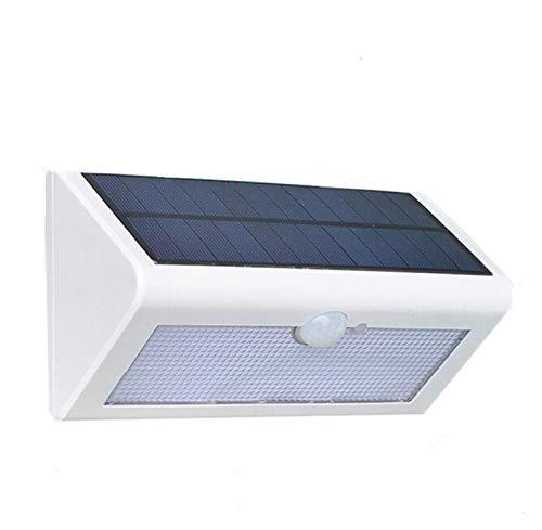 S-L Solar Luces 500LM Sensor De Movimiento Impermeable 38 LED Solar Luz De Calle Al Aire Libre Lampada Lampada Lámpara De Jardín Solar Aplique (Emitting Color : White Light, Wattage : Black Shell)