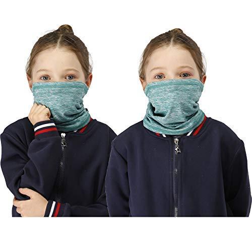 2 PCS Neck Gaiter Face Mask + 15 PCS Filters,Winter Headband Bandanas Women Men Kids