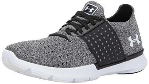 Under Armour Women's Speedform Slingwrap Sneaker, Black (002)/White, 8