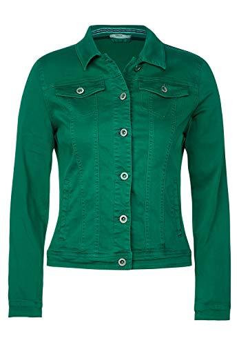 Cecil Damen TOS Color Denim Jacket Jeansjacke, Grün(lucky clover green)L