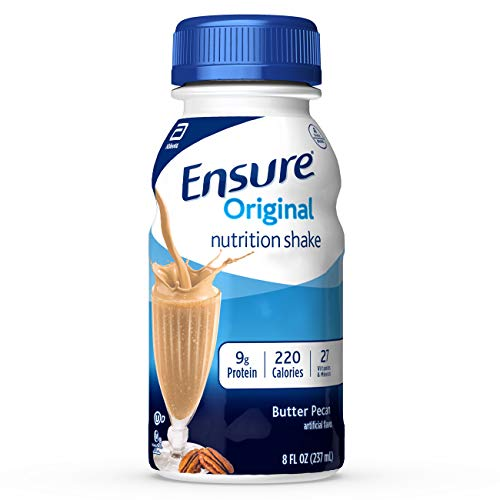 Ensure Original Nutrition Shake With 9g of Protein, Meal Replacement Shakes, Butter Pecan, 8 Fl Oz, 24 Count