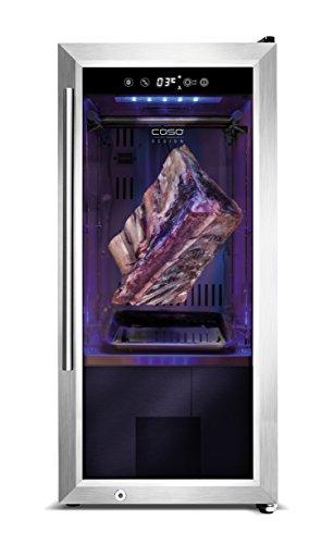 CASO Dry Aged Kühlschrank, hochwertiger Reifeschrank mit Kompressortechnik, zur Lagerung und Reife von hochwertigem Fleisch und anderen Lebensmitteln