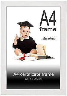 Marco de Fotos A4, Blanco, Marco para Certificados/Documentos, Montable en la Pared