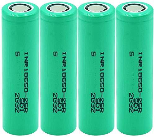 20a Descarga Inr 18650 25r batería de Iones de Litio 3,7 v 2500 mah baterías Recargables para Linterna-4 Piezas