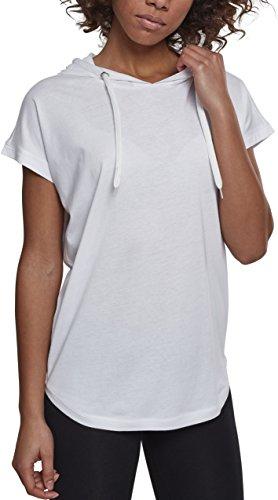 Urban Classics Damen Ladies Sleeveless Jersey Hoody T-Shirt, White, 4XL