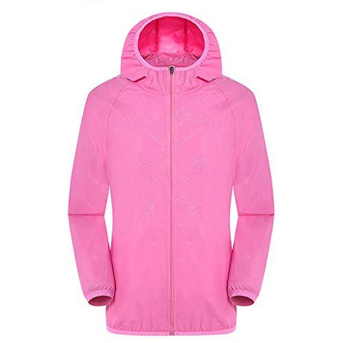 YWLINK Damen Softshell Funktions Outdoor Regen Jacke Sport Sonnencreme Wasserdicht Reiten Atmungsaktiv Licht Coat(Rosa,XL)