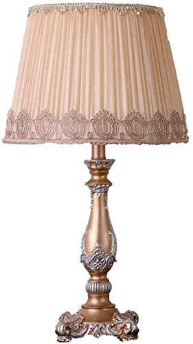 Etude Antique style européen Chambre Résine Bureau Rose Table de chevet Lampe Mode Classique Lampes de bureau avec kaki Tissu Ombre for l'intérieur Maison Salon Éclairage décoratif E27