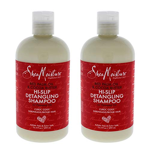 Red Palm Oil and Cocoa Butter Detangling Shampoo by Shea Moisture for Unisex - 13.5 oz Shampoo - (Pack of 2)