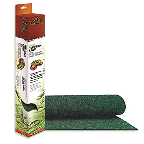 Zilla Reptile Terrarium Bedding Substrate Liner, Green, 40BR/50G