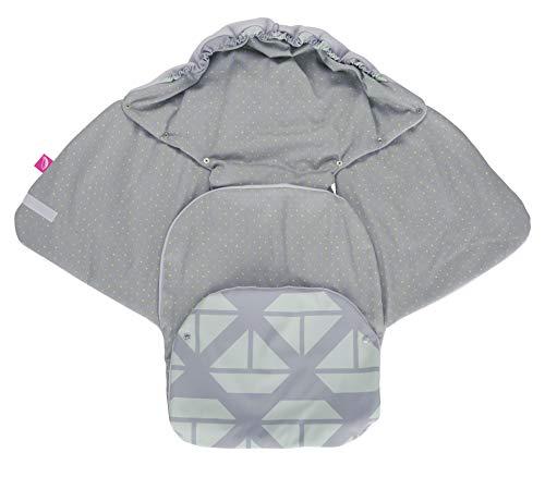 Baby Softshell inslagdeken voor babyschaal, autostoel, Maxi-Cosi, Romeinen en andere merken, ideaal voor kinderwagens, fietsaanhangers, buggy - schepen mint