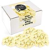 FOOD crew Chocolate Blanco Pepitas de Chocolate para Hornear - 900g Chocolate Belga Fundir -...