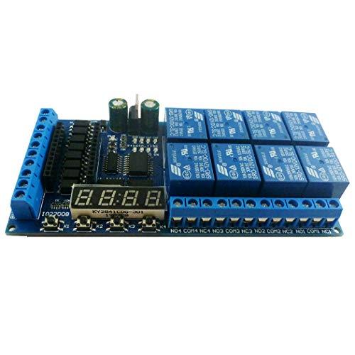 DC 12V 8 canales Pro mini placa PLC módulo de protección de relé para Arduino placa de interruptor de temporizador de retardo multifunción (Only Relay Board)