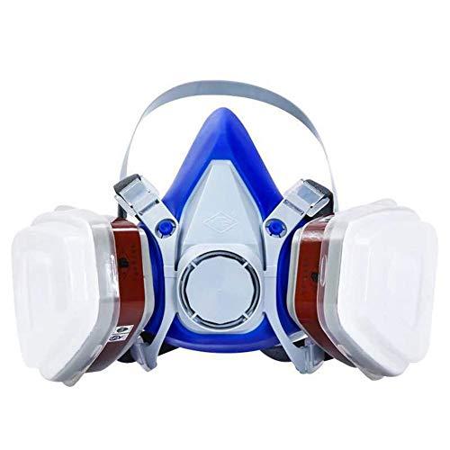 6200 Gasmasker Anti-Stofmasker Herbruikbaar Verstelbaar Volledig Gelaatsscherm Voor Het Spuiten Van Verf, Stof, Bescherming Voor Spuiten, Opknappen, Schilderen En Slijpen