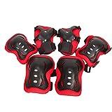 YzDnF De los niños Equipo de Protección de 6 Piezas Conjunto Espesado Tipo De monopatín Bicicleta de Equilibrio de Bicicletas Equipo de Protección Protectora Gear Set (Color : Red, Size : F)