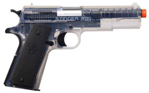 GameFace ASP311B Stinger P311B Spring-Powered Single-Shot Military-Style Airsoft Pistol, Black