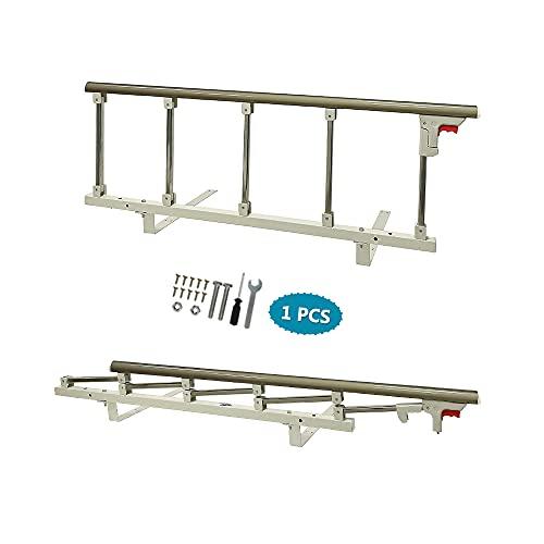 Barandillas laterales de la cama Guardia para adultos mayores Personas mayores Riel auxiliar Seguridad Barandillas de caña de la cama Manija plegable para discapacitados Media barra de agarre