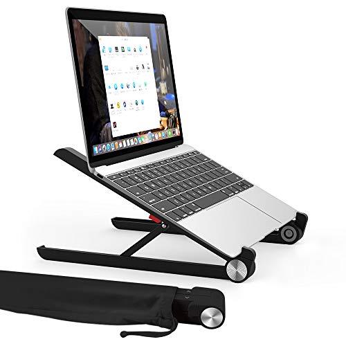 TATE GUARD Laptop Ständer,Multi-Winkel verstellbar,Höhe einstellbaar,Klappbar Stand,für 10 bis 17.3 Zoll Kompatibel mit m'acbook/Tablet/Tab Laptop PC,2017 Microsoft Surface Pro,Schwarz
