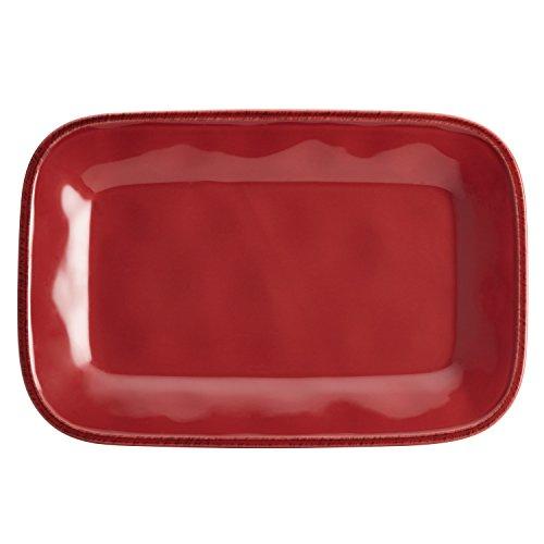 Rachael Ray Cucina Dinnerware 8 x 12-Inch Stoneware Rectangular Platter, Variety of Colors