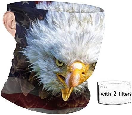 Unisex Face Shield Ear Loops with 2 Replaceable Fliters Bandana Face Mask American Flag North product image