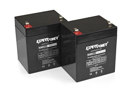 ExpertPower 12V 4.5AH Sealed Lead Acid (SLA) Battery - F1 Terminal/2 Pack