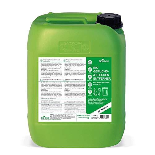 Bio-Chem Bio Urin Attacke Geruchs- und Fleckenentferner, Geruchsneutralisierer, Geruchsvernichter, Katzen-Geruchsentferner, Katzen-Urin und Hunde-Urin Entferner, Urin-Reiniger (5000 ml (Refill))