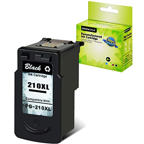 GREENCYCLE Remanufactured Ink Cartridge Compatible for Canon PG-210XL 210XL Used in PIXMA MP495 IP2702 MP230 MP240 MP250 MP280 MP480 MP490 MP499 MX330 MX340 MX350 MX410 MX420 Printer(1 Pack, Black)