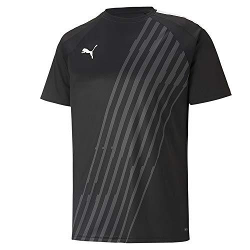 PUMA Herren, teamLIGA Graphic Jersey T-shirt, Black-White, XXL