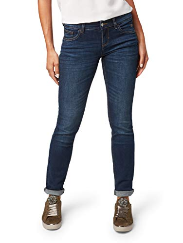 TOM TAILOR Damen Carrie Straight Jeans, Blau (Clean Dark Stone Blue Denim 1502), 26W / 30L
