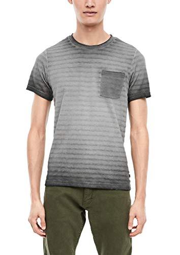 Q/S designed by - Camiseta de rayas para hombre con degradado rayas negras M