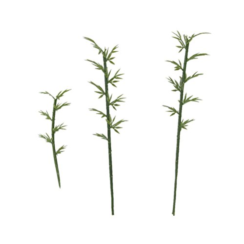 WINOMO 100pcs 4 bilance plastica bambù albero modello treno paesaggio scala 1:75 (verde)