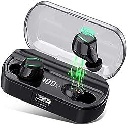 ❤【Écouteurs Bluetooth tactiles & le Son Stéréo de réduction du bruit CVC8.0】 Des Oreillettes Bluetooth sans fil HETP a un capteur tactile pour contrôler le flux audio, indépendamment de l'oreille gauche et droite sans fil , prise en charge Siri, marc...
