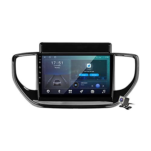 Buladala Android 9.1 GPS Navigation Stereo Radio para Hyundai Solaris 2 2020-2021, 9' Pantalla Coche Media Player Soporte Carpaly Android Auto/5G FM RDS/Control Volante/BT Hands-Free,M300s
