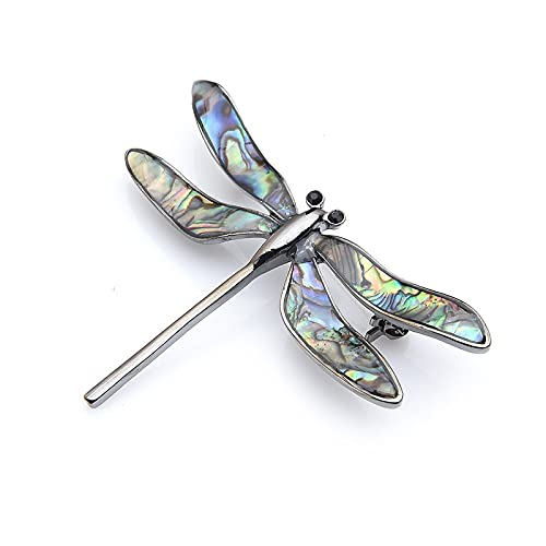 Broche vintage con esmalte de aceite de libélula insecto broches mujeres hombres fiesta broche Pins regalos