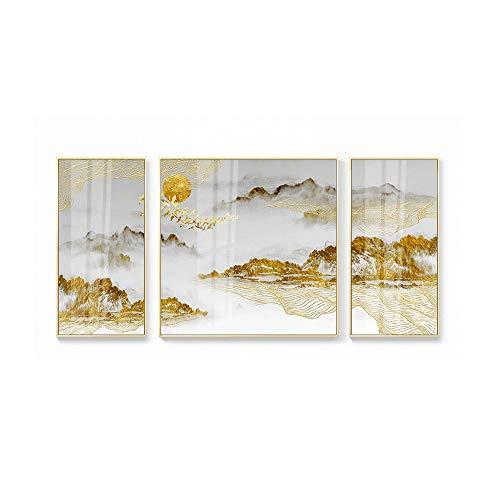 YWSZJ Moderno Minimalista Abstracto Tres Paisaje decoración Pintura hogar Hotel decoración Mural Porche Pintura Colgante