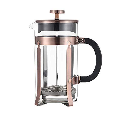 Anmy Drücken Sie Kaffeemaschine Doppel-Französisch Druckfilter Topf Hoch Borosilicatglas Liner Französisch Druckbehälter Kaffee Appliance (Farbe : Stainless Steel, Size : 1000ml)