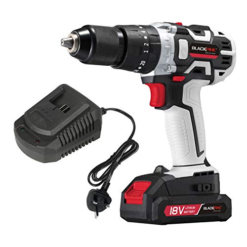 Voupuoda Cordless Drill Driver Handheld Portable 18V Electric Drill Variable Speed Brushless Drill LED Light 21+3 Torque with 2000mAh Lithium-ion Battery