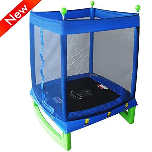 JY&WIN Trampolín de jardín Trampolín Trampolín para niños al Aire Libre Trampolín silencioso para Interiores con Red Protectora Rebote de jardín al Aire Libre Trampolín de Fitness para Adultos 100