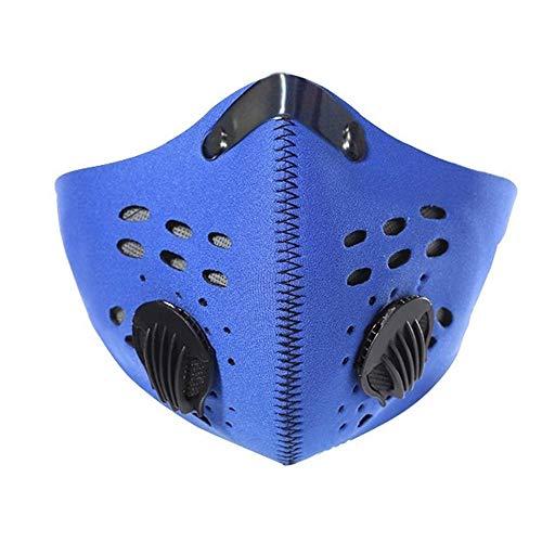 SwtyLife, Mascherina da allenamento per ciclismo, con filtro in carbonio, copertura per metà viso, per bicicletta