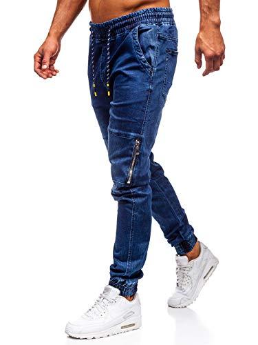 Minetom Hombre Jeans Pantalones Moda Vaqueros Rotos Slim Fit Con Parches Y Cremallera Primavera Verano Casual Cargo Pants Ropa Hombre Vaqueros