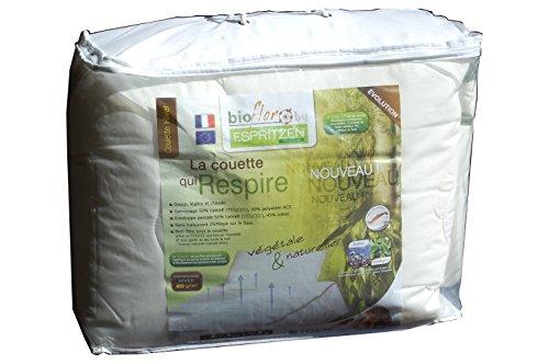 Espritzen - Couette Hiver chaude - Taille : 140x200 cm - Tencel Coton Bioflor - Blanc