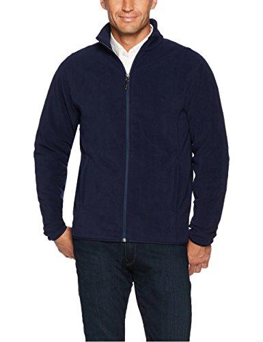 Amazon Essentials Men's Full-Zip Polar Fleece Jacket, Navy, Small