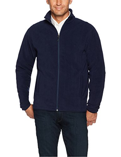 Amazon Essentials Men's Full-Zip Polar Fleece Jacket, Navy, Large