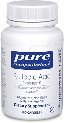 Pure Encapsulations - R-Lipoic Acid (Stabilized) - Hypoallergenic Supplement with Enhanced Antioxidant Protection and Metabolic Support - 120 Capsules