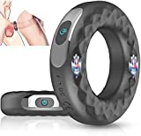 Dual Motor Vibration Penis Cock Ring, Penis Trainer, with 10 Vibrations, Wireless USB Charging clit Stimulator Couple Vibrator, Male Enhanced Sex Toy, Sweater