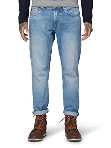 TOM TAILOR Herren Regular 90\'s Vintage Straight Jeans, Blau (Used Light Stone Blu 10118), W32/L32 (Herstellergröße: 32/32)