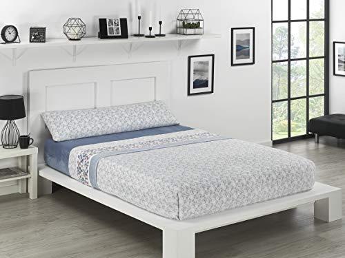 NH NOVOTEXTIL HOGAR Juego de sábanas de coralina 3 Piezas Varias Medidas,Modelos y Colores (Cama 135, Ontario)