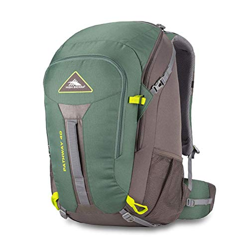 High Sierra Pathway Internal Frame Hiking Pack, 40L, Pine/Slate/Chartreuse