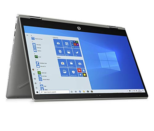 HP Pavilion x360 14-cd1009na 14-Inch Full HD Touch Screen Convertible Laptop, Intel Core i5-8265U, 8 GB RAM, 256 GB SSD, Windows 10 Home - Silver