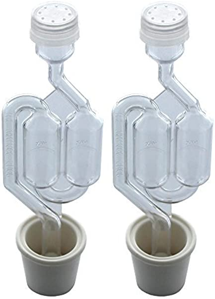 Twin Bubble Airlock And Carboy Bung Pack Of 2